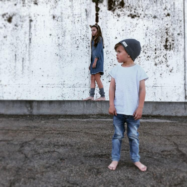 kids posing for fashion photoshoot