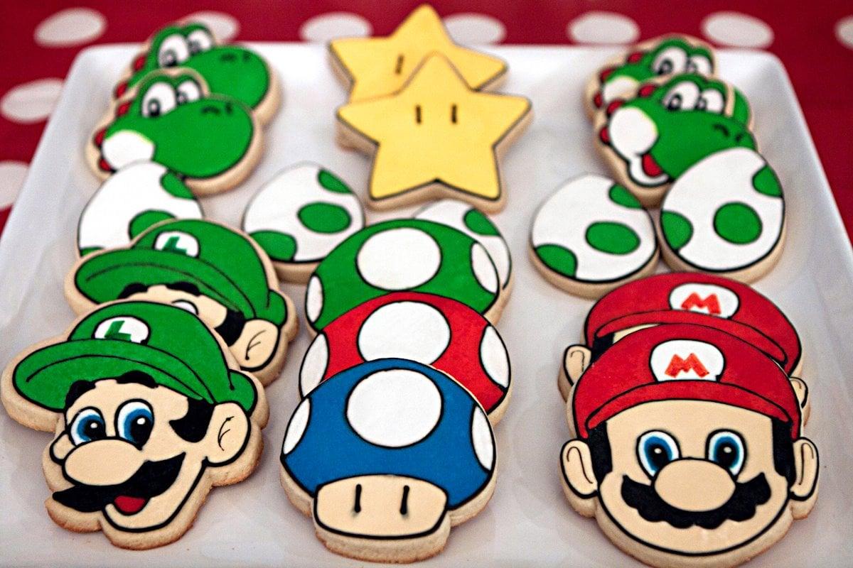 Mario themed cookies