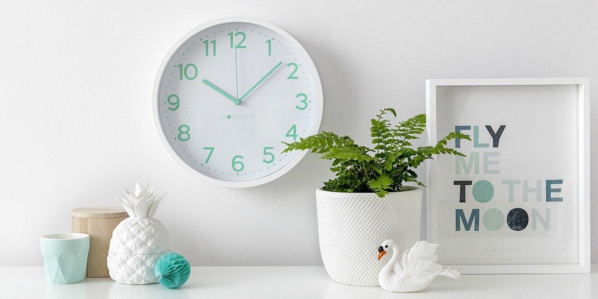 clocks hanging on wall
