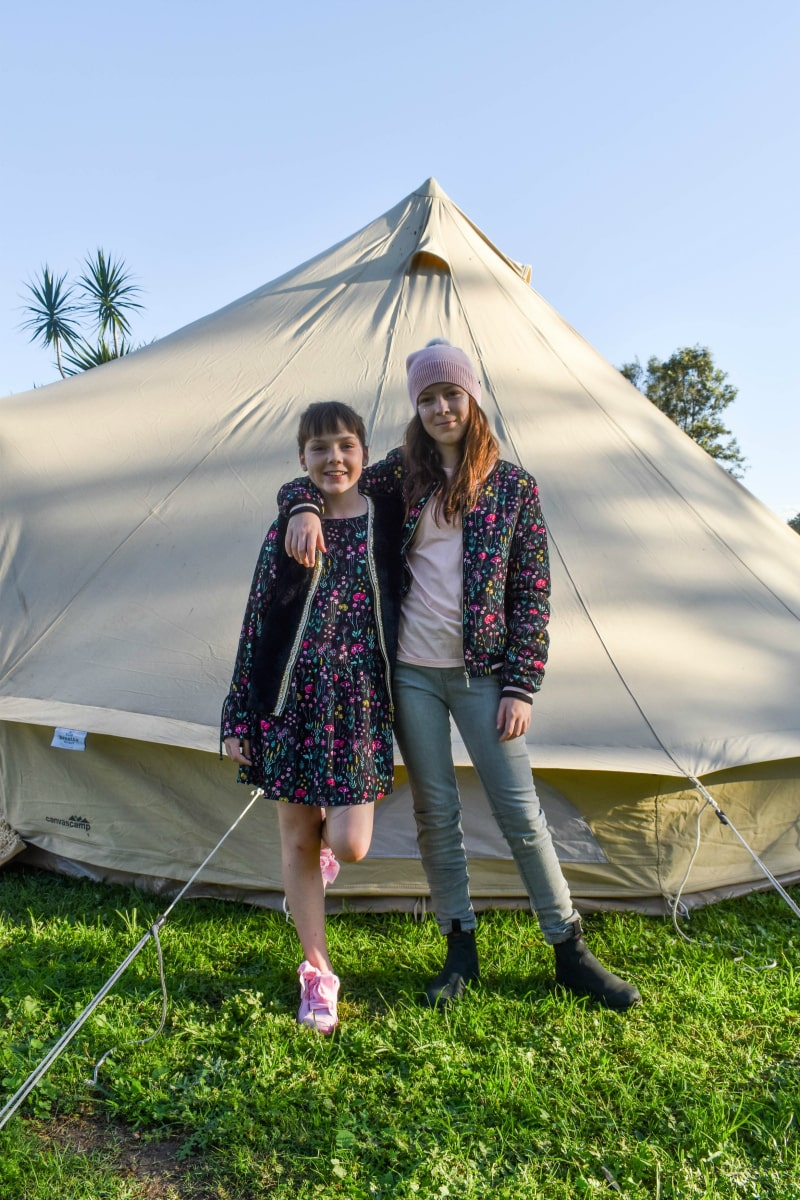 tween girls camping