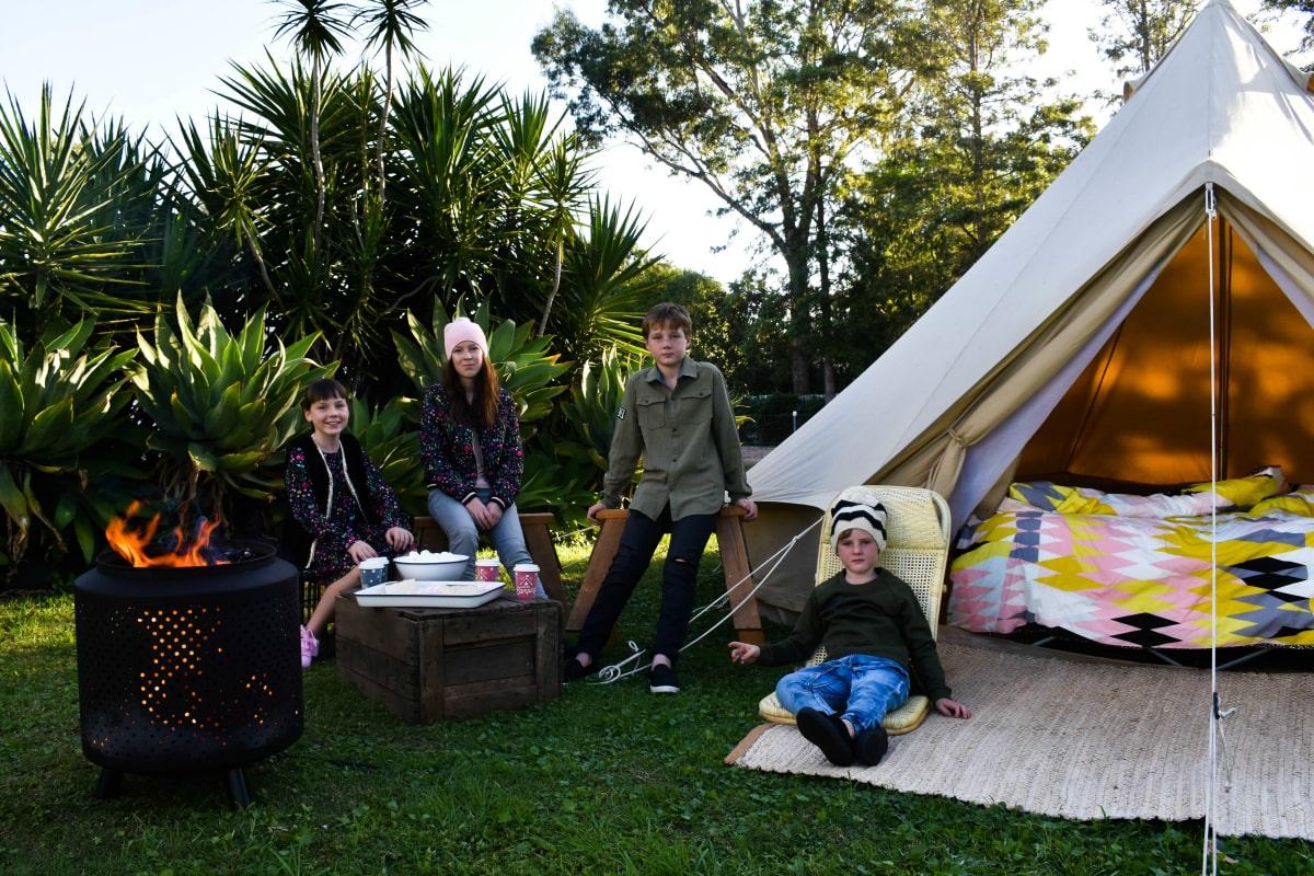 tweens camping