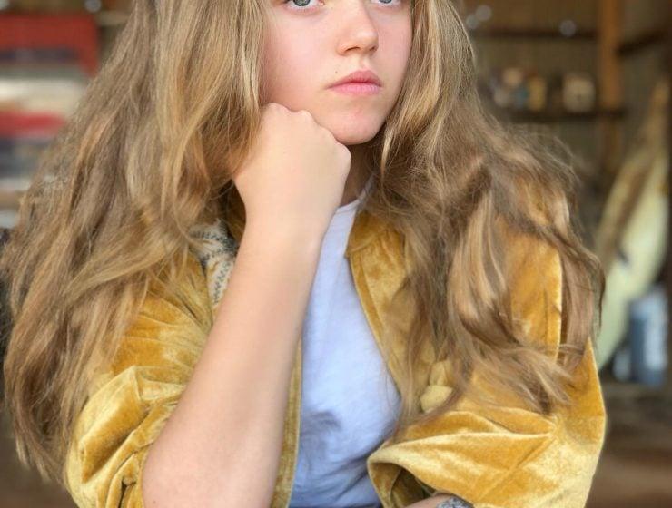 Tween Girl posing