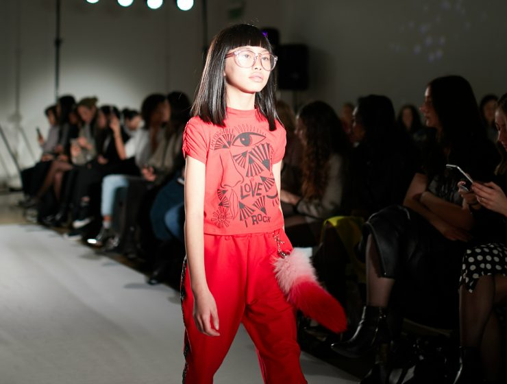 tween model walking runway
