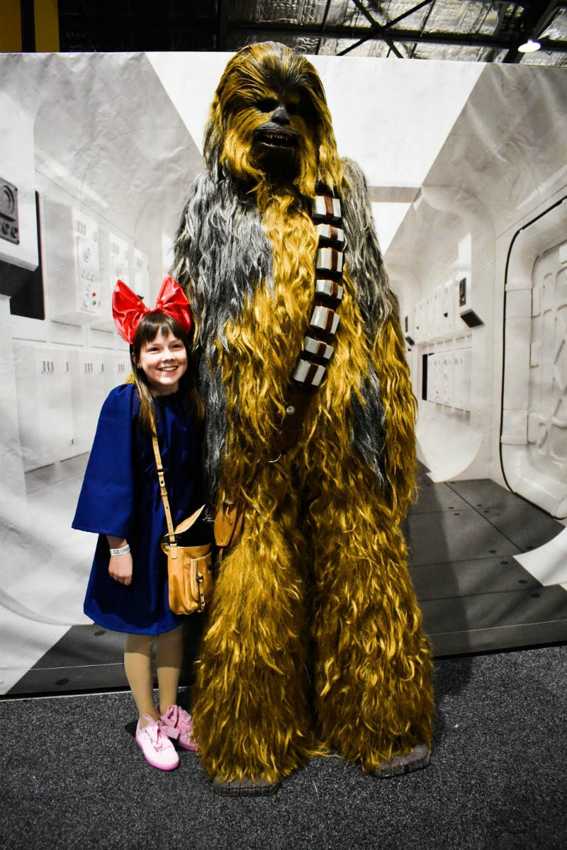 Standing with Chewbacca