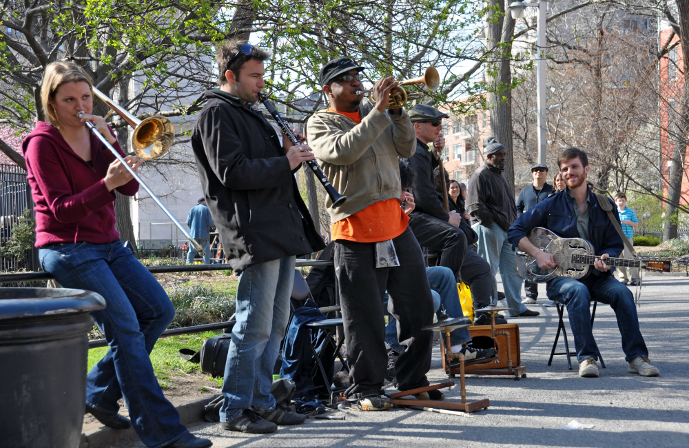 Street band in New York - Traveling New York with Tweens