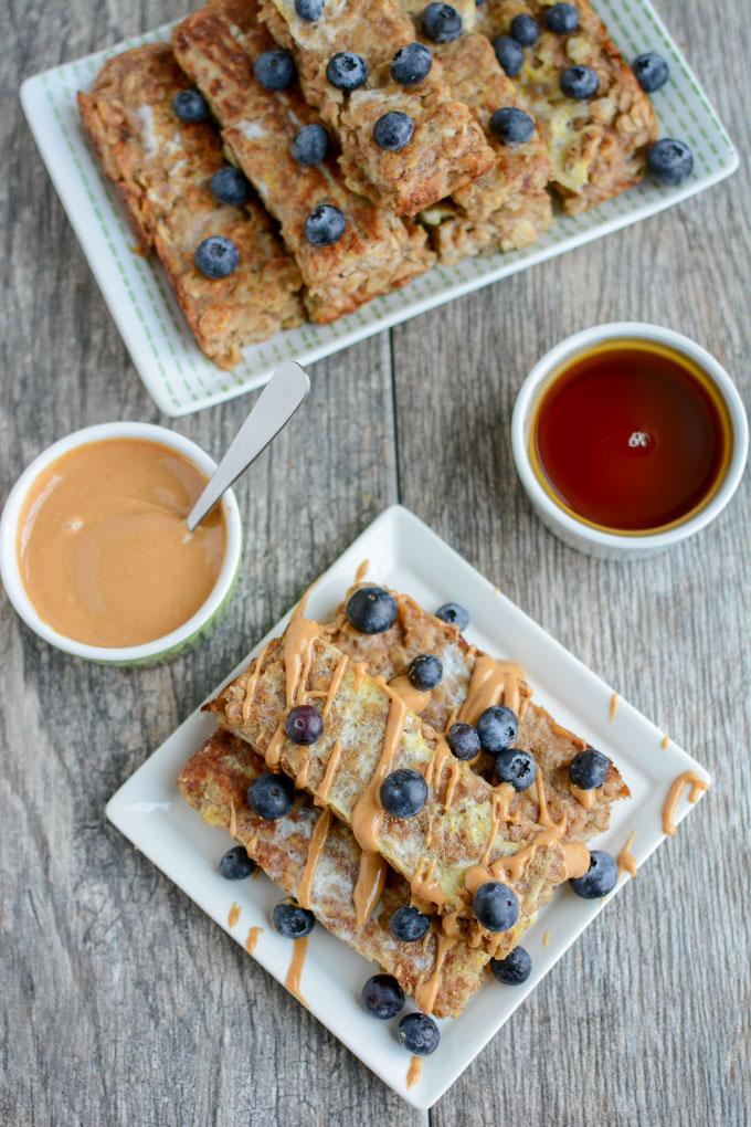 Breakfast Ideas for Kids - Baked Oatmeal French Toast Sticks