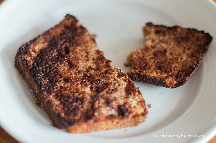Breakfast ideas for kids - cinnamon toast