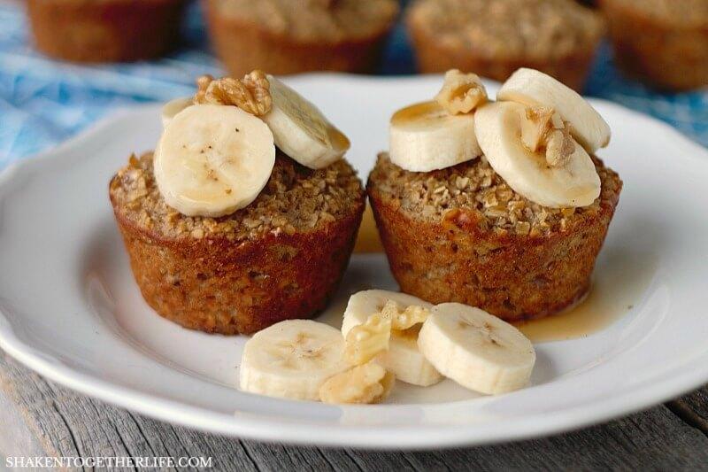 Breakfast Ideas for Kids - Banana Bread Oatmeal Cups