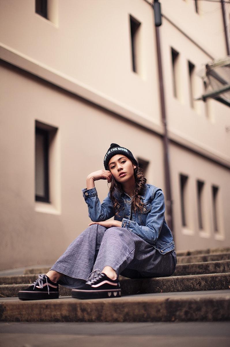 girl wearing tween styled clothing