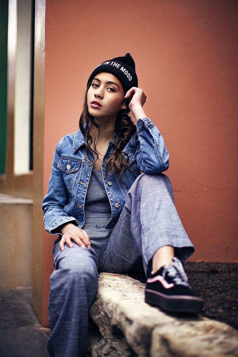 Girl in photoshoot wearing tween clothing Australia