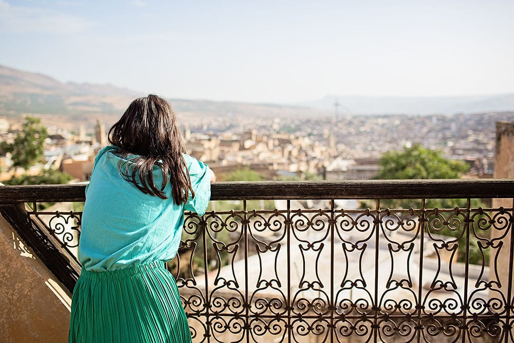 looking out over Fez