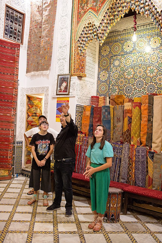 Moroccan Rug Store - worldschooling and learning history