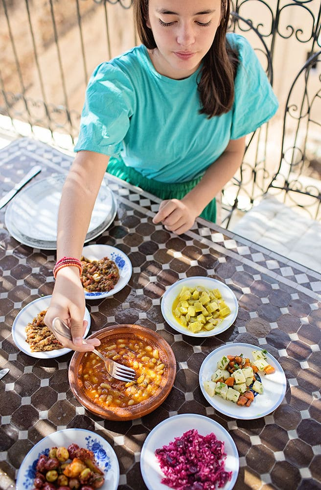 Selection of Moroccan Food - learning about foods during worldschooling