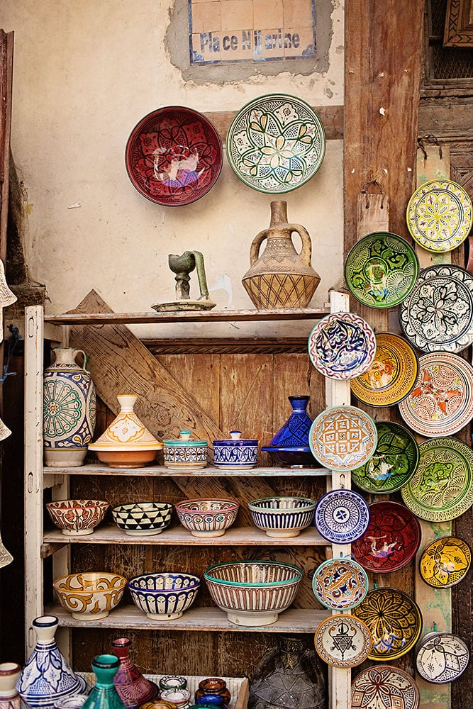 Colourful Moroccan Plates