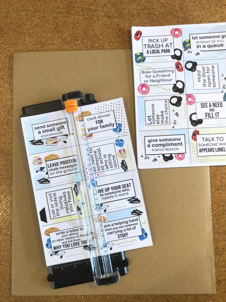 random acts of kindness cards for kids