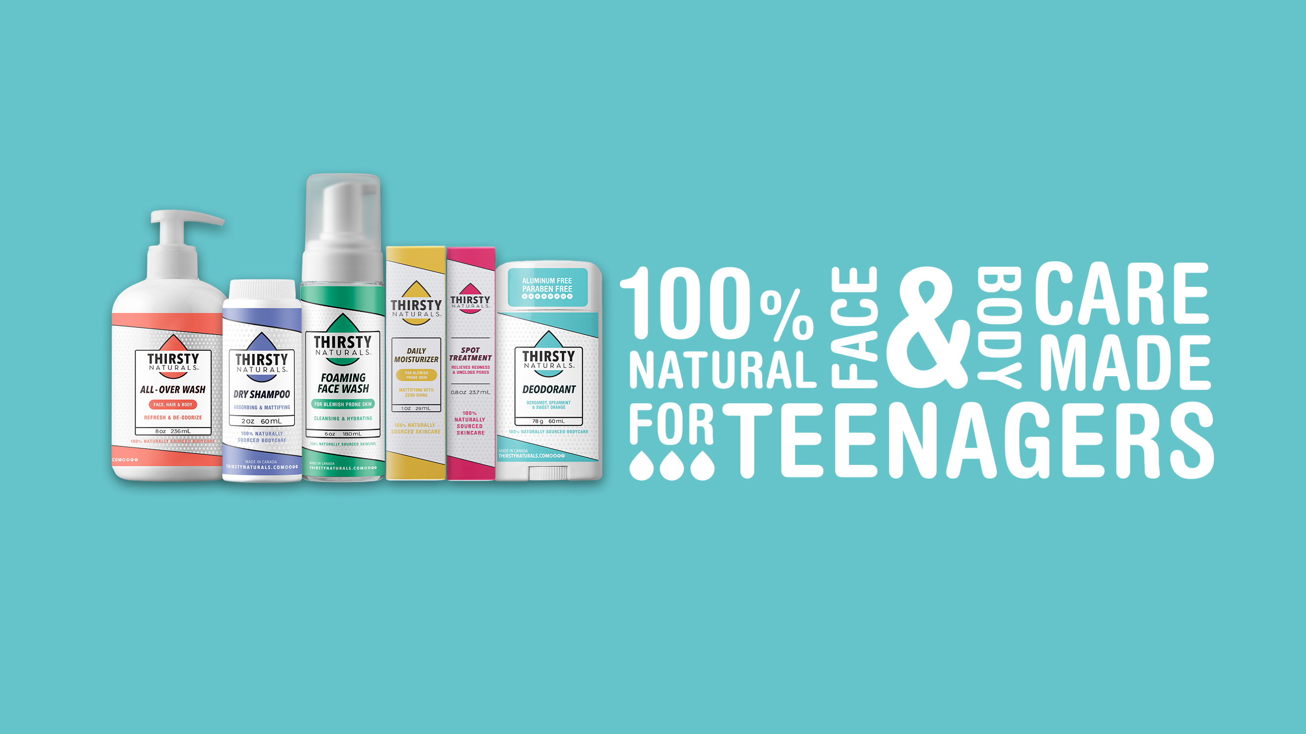 thirsty naturals skin care for teens
