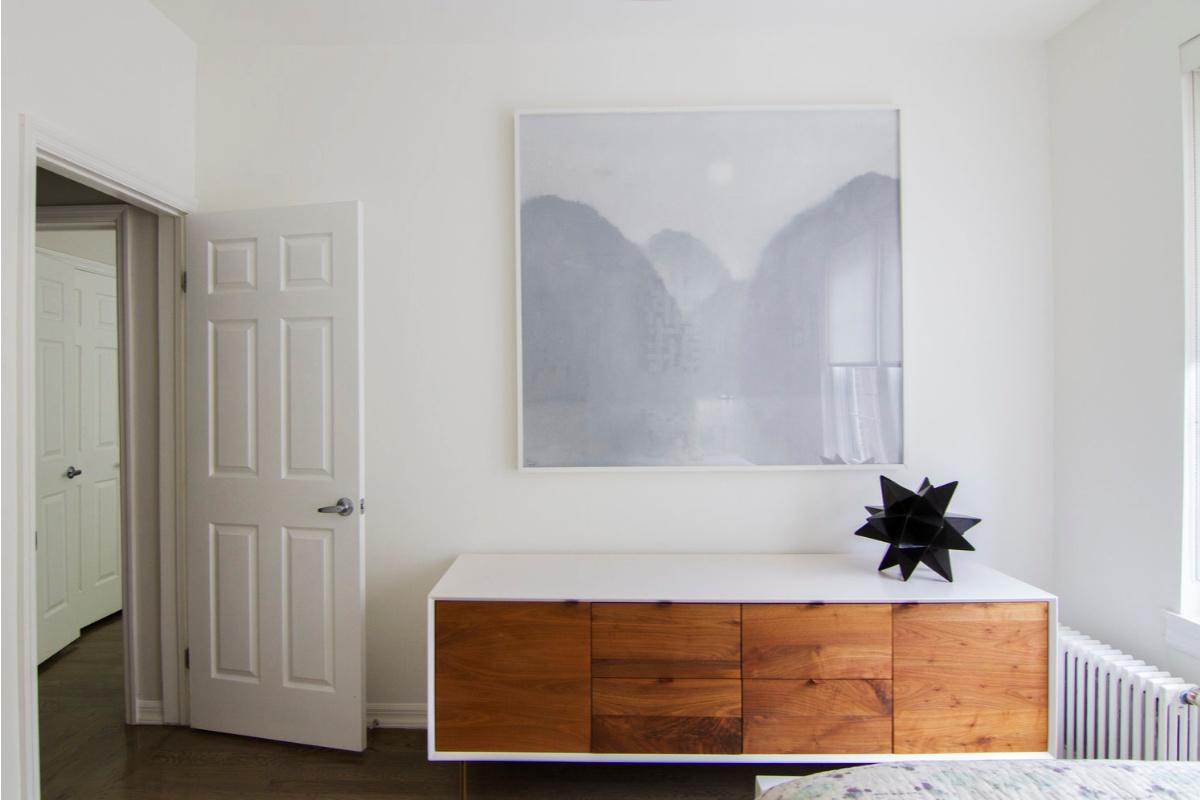 Stella's Room. Wall art and dresser.