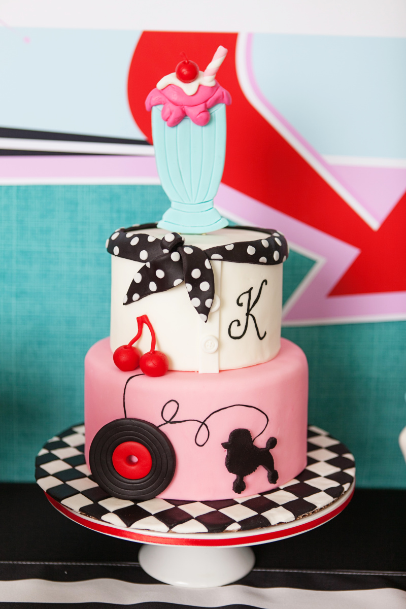 Retro Soda Shoppe Birthday Cake