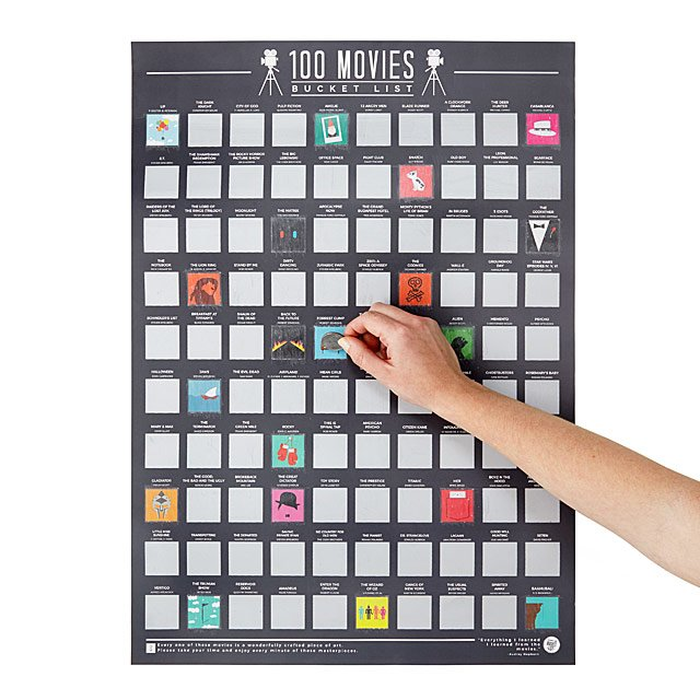 Movies scratch off poster - Gift Ideas for Teens