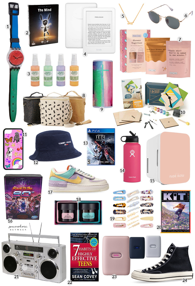 assorted gift ideas for teens